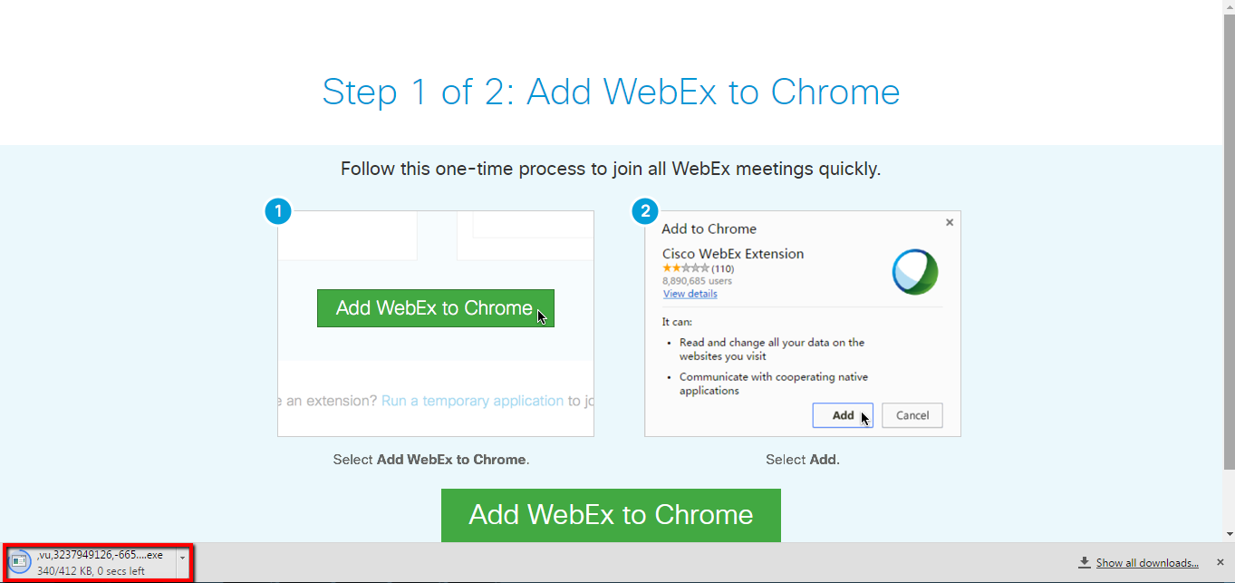add webEx to chrome 2